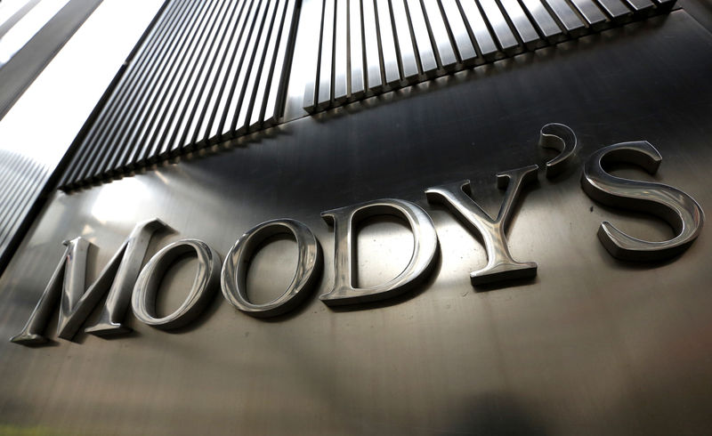 © Reuters. Il logo di Moody's a New York