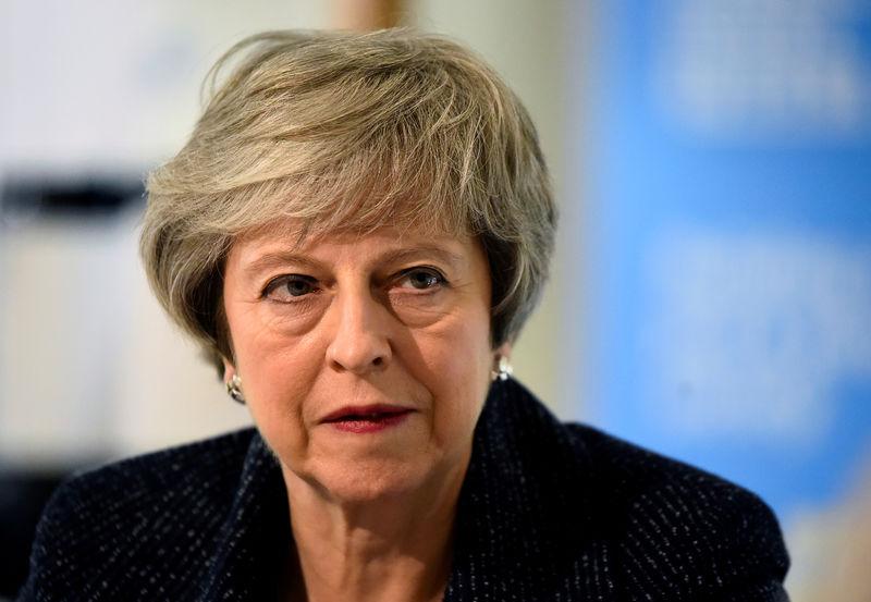 © Reuters. FILE PHOTO: Britain's Prime Minister Theresa May visits Northern Ireland