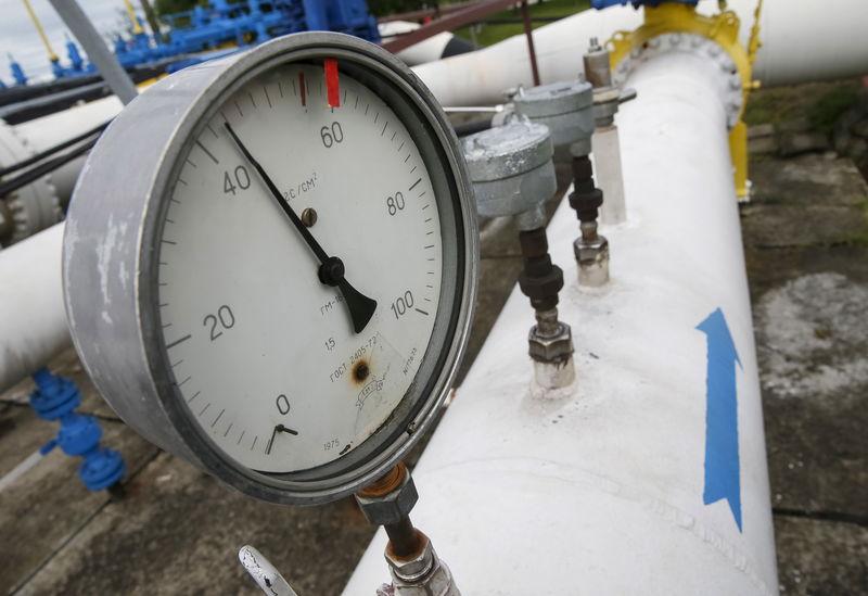 © Reuters. Газоизмерительная станция вблизи Ужгорода