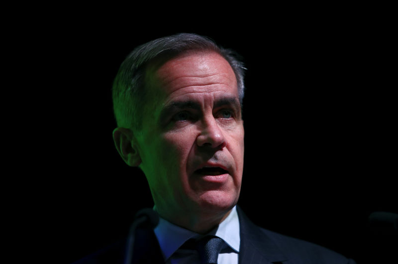 © Reuters. The Governor of the Bank of England, Mark Carney speaks at an FT event in London