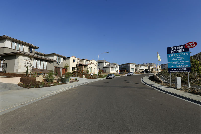 © Reuters. A view of single family homes for sale in San Marcos