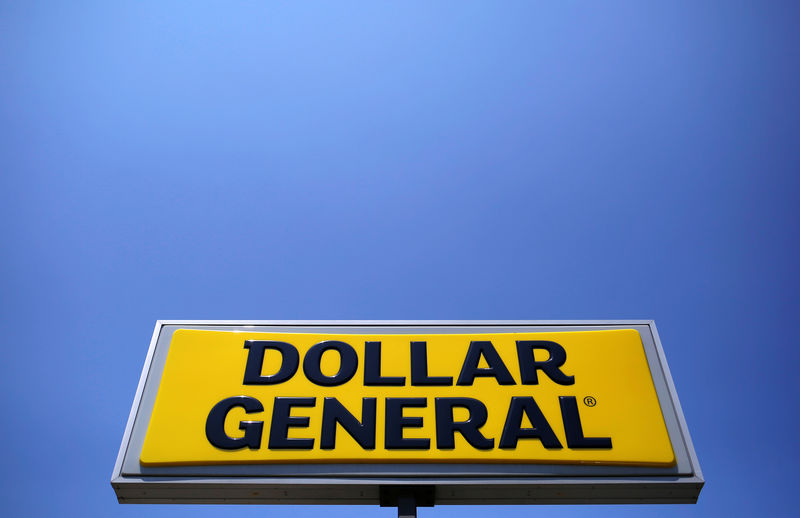 © Reuters. A sign is seen outside a Dollar General store in Chicago