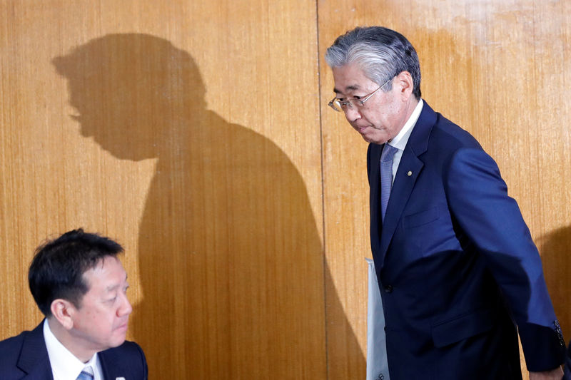 © Reuters. Japanese Olympic Committee President Takeda attends JOC board of directors meeting in Tokyo