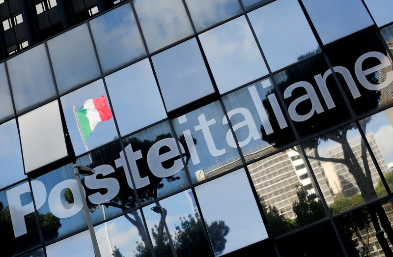 © Reuters. FILE PHOTO: Poste Italiane headquarters is seen in Rome