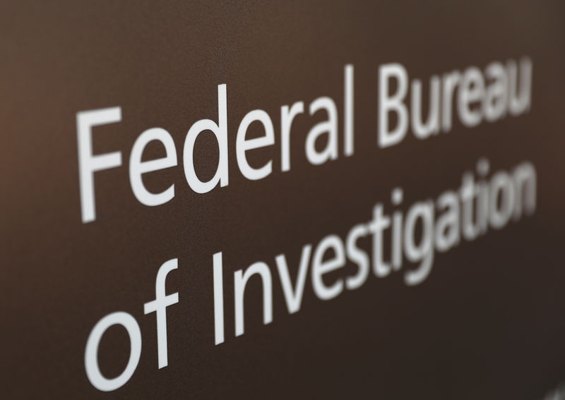 © Reuters. A sign of the FBI is seen outside of the J. Edgar Hoover FBI Building in Washington