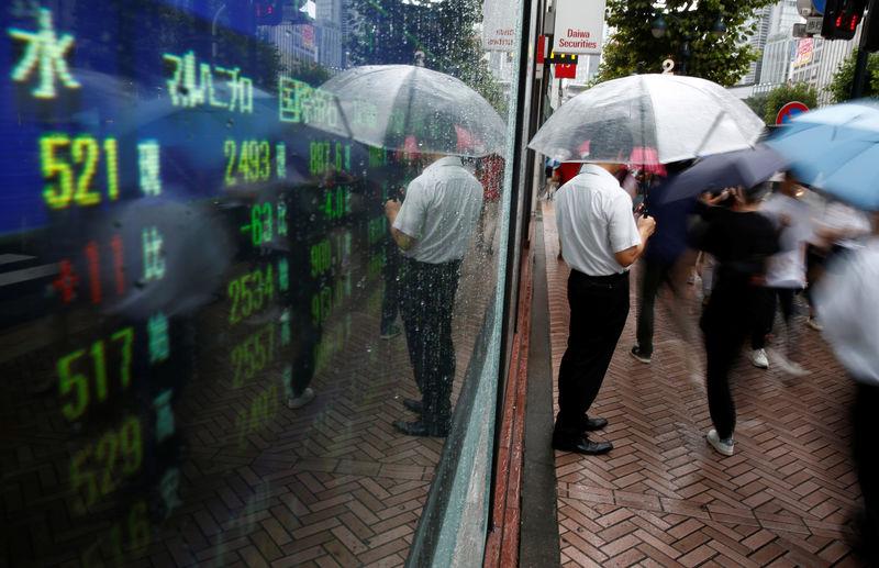 'Flashing amber' - Stocks tumble, bonds rally on U.S. recession risk