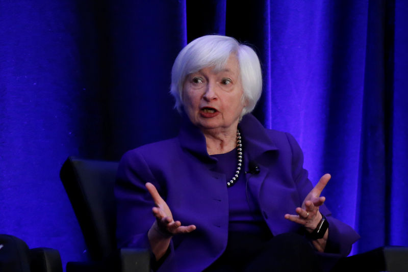 Former Fed chair Yellen says yield curve may signal need to