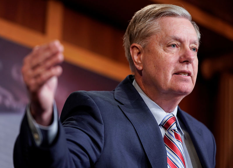 © Reuters. Chairman of the Senate Judiciary Committee Lindsey Graham (R-SC) speaks to the media on Capitol Hill in Washington.