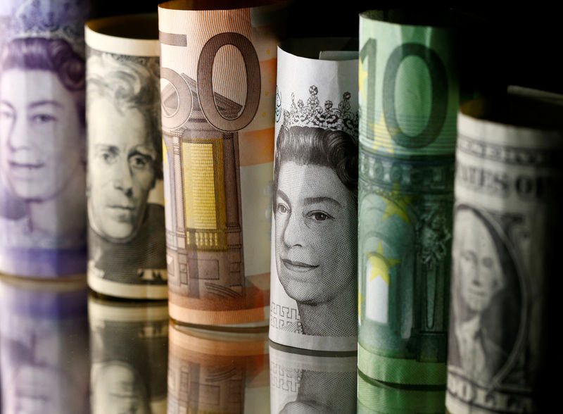 © Reuters. FILE PHOTO: Dollar, Euro and Pound banknotes are seen in this picture illustration