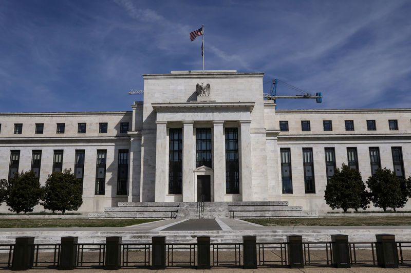 © Reuters. FILE PHOTO:  The Federal Reserve Board building on Constitution Avenue is pictured in Washington