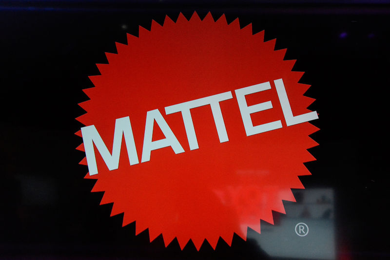 © Reuters. FILE PHOTO: The Mattel company logo is seen at the 114th North American International Toy Fair in New York City
