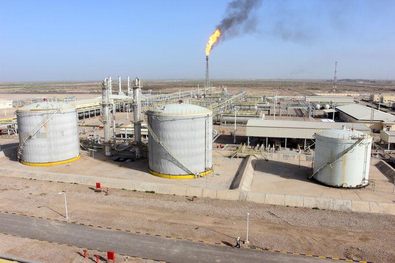 © Reuters. العراق يوافق على صفقة مع شركة صينية لمعالجة غاز حقل الحلفاية