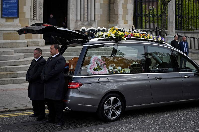 Irish, British leaders join mourners at funeral of murdered Northern Irish journalist