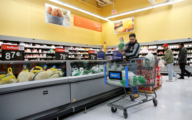 c9728285c47 Reuters. FILE PHOTO  Shoppers at a Walmart store in Chicago Illinois
