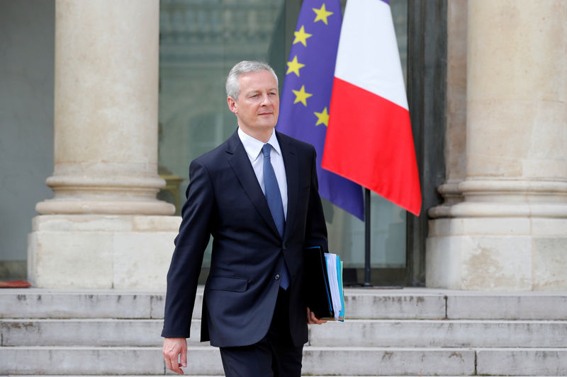France to match tax cuts with spending cuts - finance minister