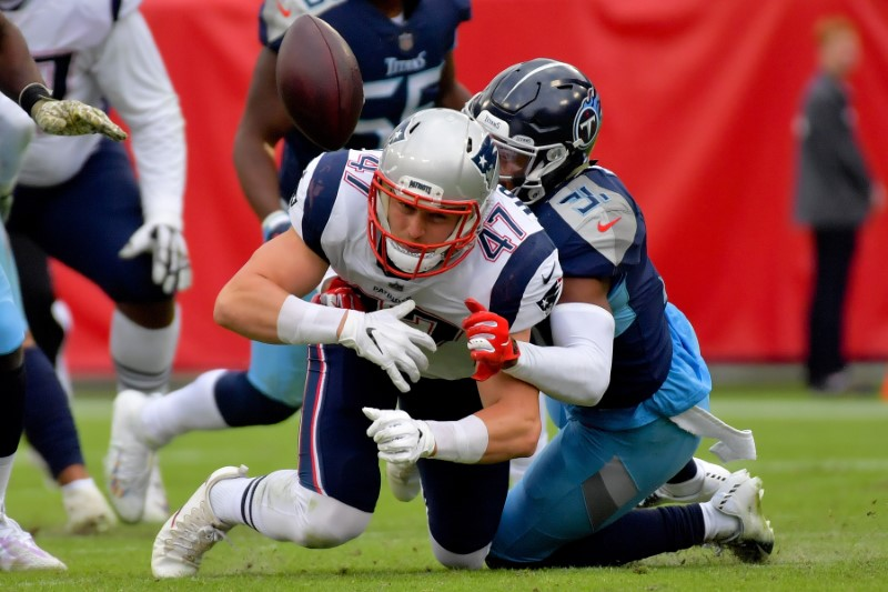 © Reuters. FILE PHOTO: NFL: New England Patriots at Tennessee Titans