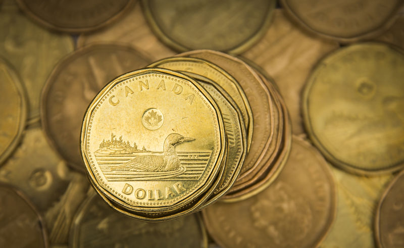 © Reuters. A Canadian dollar coin, commonly known as the