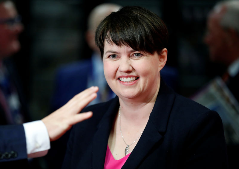 © Reuters. Ruth Davidson's Scottish Conservatives meet for conference in Aberdeen