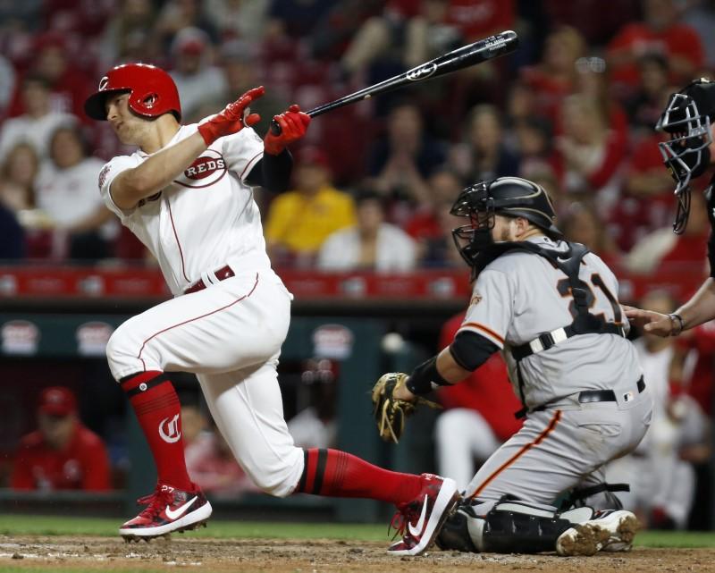 © Reuters. MLB: San Francisco Giants at Cincinnati Reds