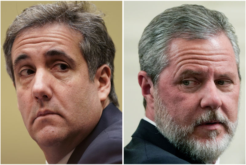 Trump fixer Cohen says he helped Falwell handle racy