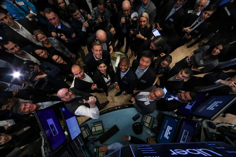 Image result for Uber fizzles in Wall Street debut, opens below $45 IPO price