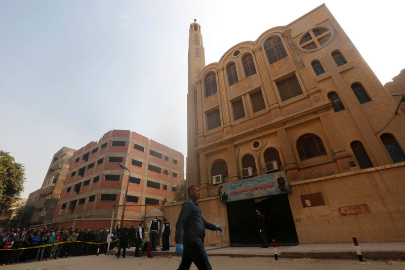 Egypt sentences two to death over church attack By Reuters