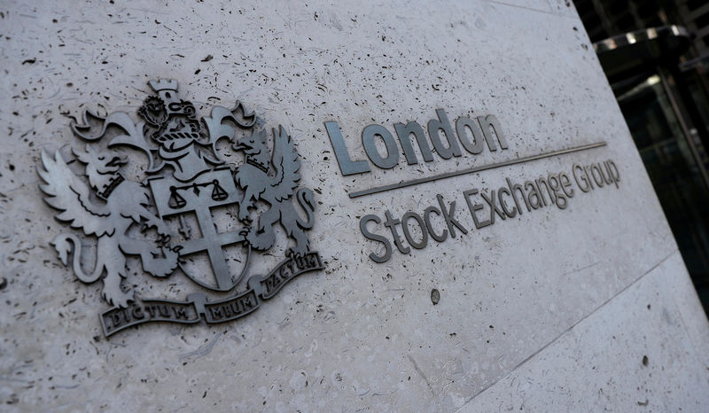 © Reuters. FILE PHOTO: Signing is seen outside the entrance to the London Stock Exchange in London