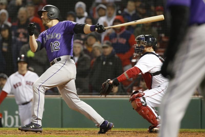 © Reuters. MLB: Colorado Rockies at Boston Red Sox
