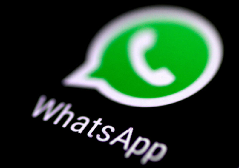 � Reuters. FILE PHOTO: The WhatsApp messaging application is seen on a phone screen