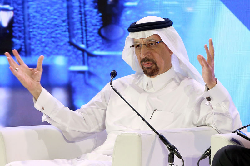 © Reuters. Saudi Energy Minister Khalid al-Falih was speaking during a financial sector conference in Riyadh