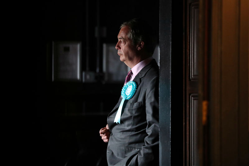 UK's Brexit Party maintains big lead in EU election poll