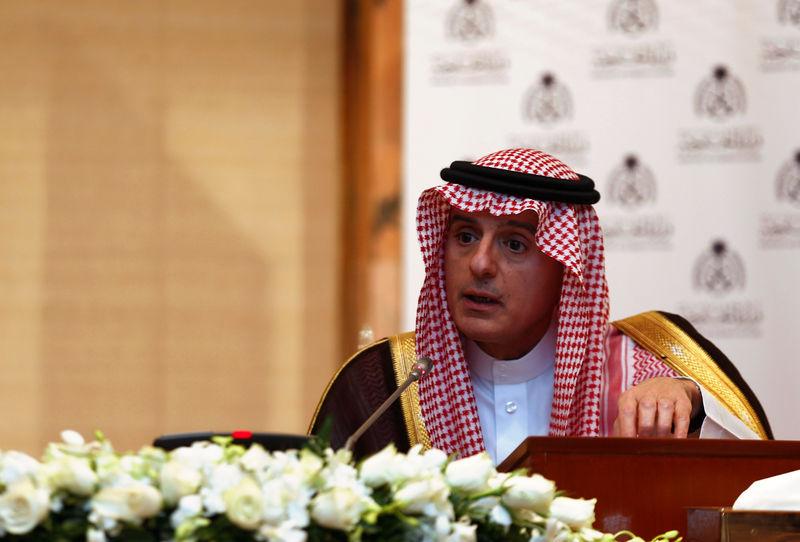 """© Reuters. الجبير: السعودية لا تريد حربا ولكنها مستعدة للرد """"بكل قوة"""""""
