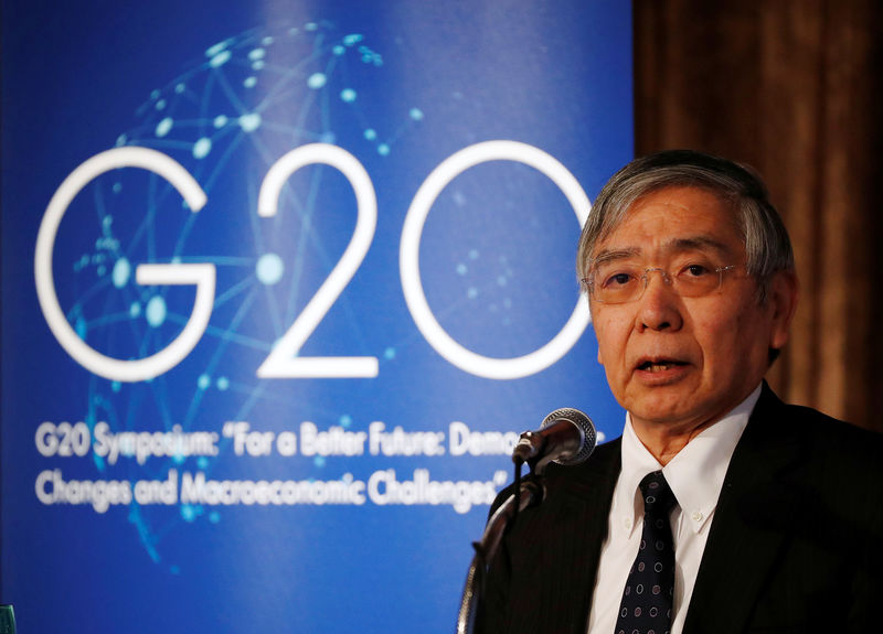 BOJ's Kuroda says G20 to discuss global economic imbalances