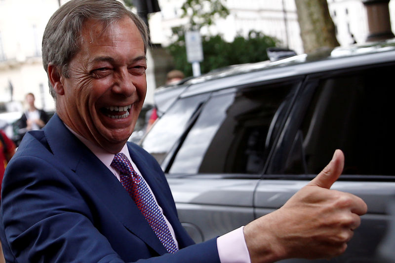 © Reuters. FILE PHOTO: Brexit Party news conference following the results of the European Parliament elections in London