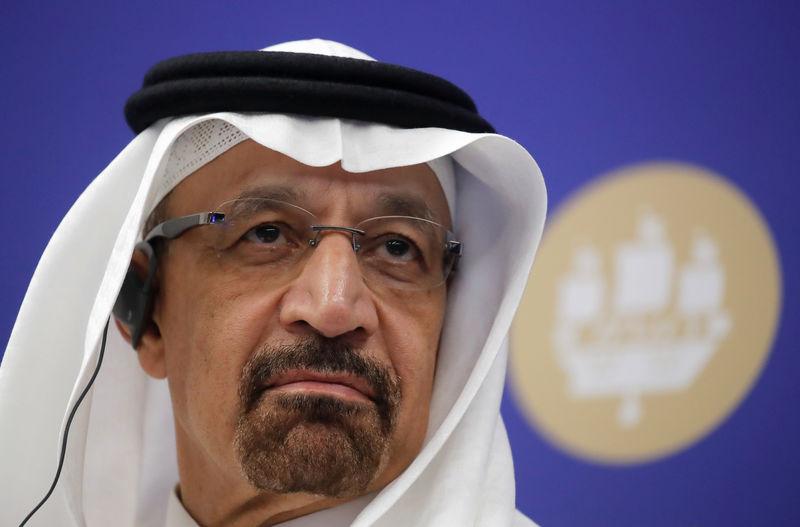 © Reuters. Saudi Energy Minister Khalid al-Falih attends the International Business Forum in St. Petersburg