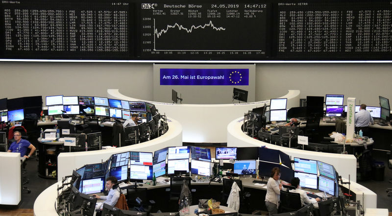 © Reuters. The German stock index DAX Grafik at the Frankfurt Stock Exchange