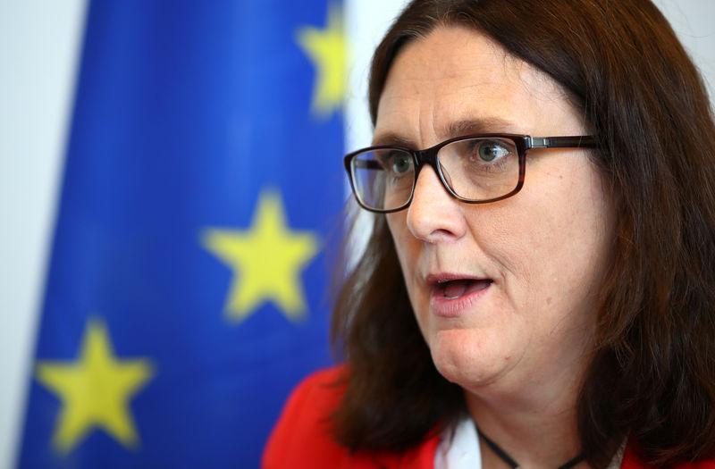 No hope of avoiding tariffs in 'no deal' Brexit: EU's Malmstrom