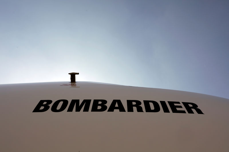© Reuters. Bombardier logo LABACE in Sao Paulo