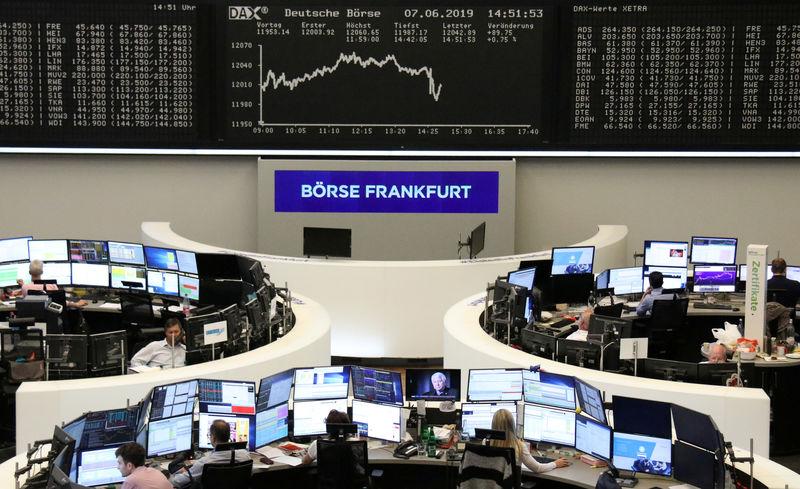 Chips, Iran worry European stock markets