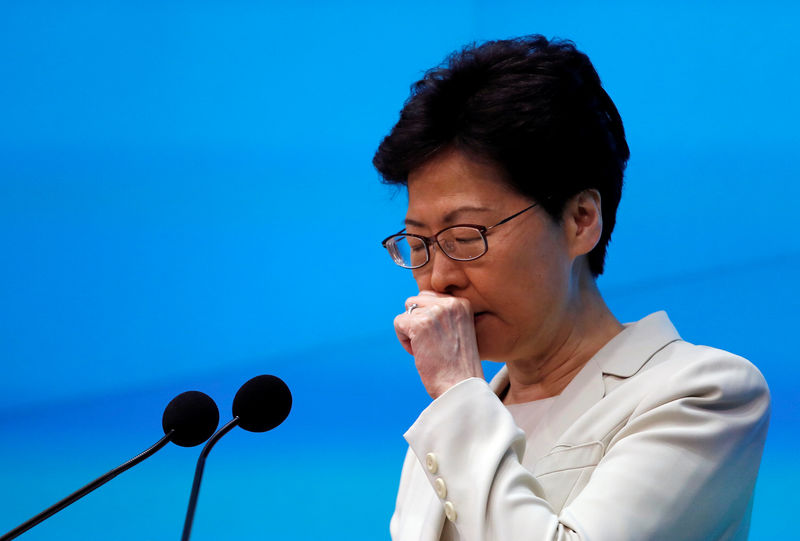 Hong Kong leader signals end to extradition bill, but refuses to step down