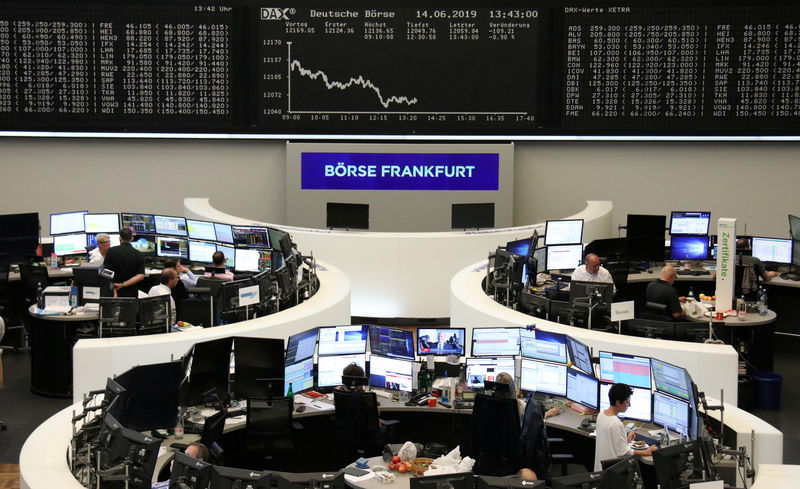 © Reuters. FILE PHOTO: The German Stock Index DAX Graph at the Frankfurt Stock Exchange