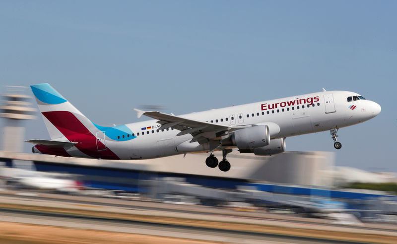 German union threatens Lufthansa's Eurowings with strikes By Reuters