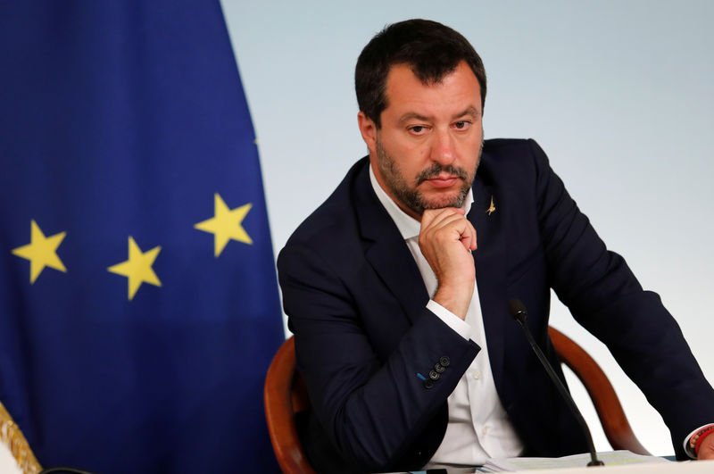 Italy's Salvini says will quit if government can't cut 10 billion euros in taxes: paper