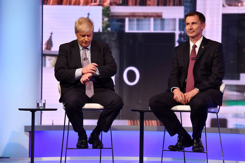 In race for No. 10, UK's Johnson and Hunt vow to splash the cash