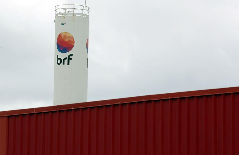 © Reuters. Logo da BRF em Fortaleza