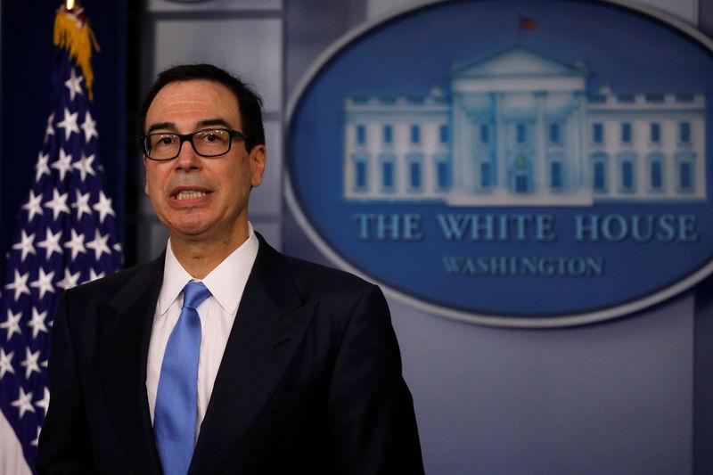 U.S. Treasury's Mnuchin urges Congress to raise debt ceiling