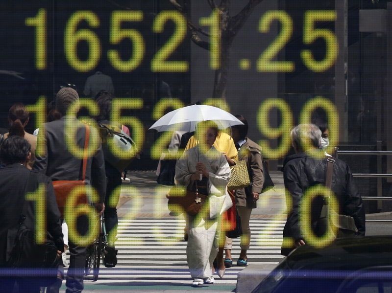 Encouraging Chinese data pulls Asian shares higher