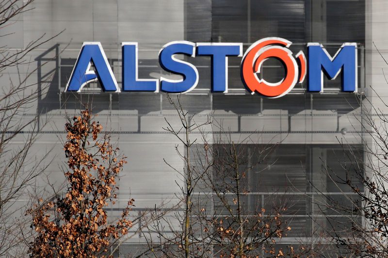 French rail infrastructure group Alstom's first quarter sales rise