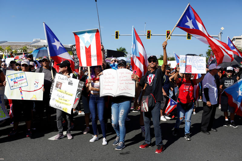Thousands expected to demonstrate Monday against Puerto Rico's governor, hold general strike