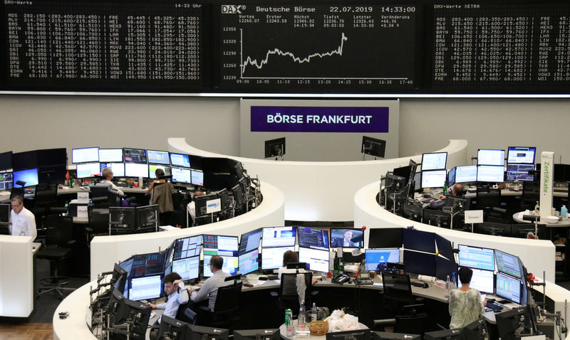 Upbeat earnings lift European shares, autos zoom